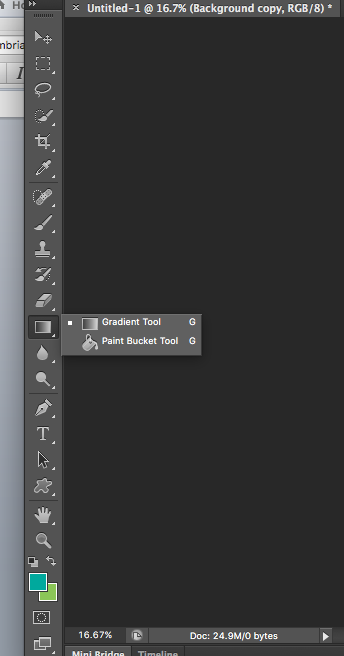 Screenshot of gradient tool