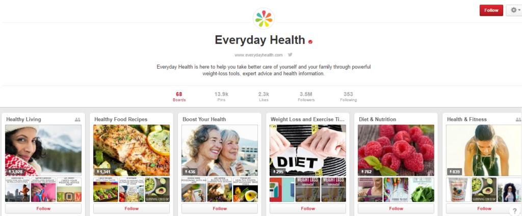everyday health pinterest