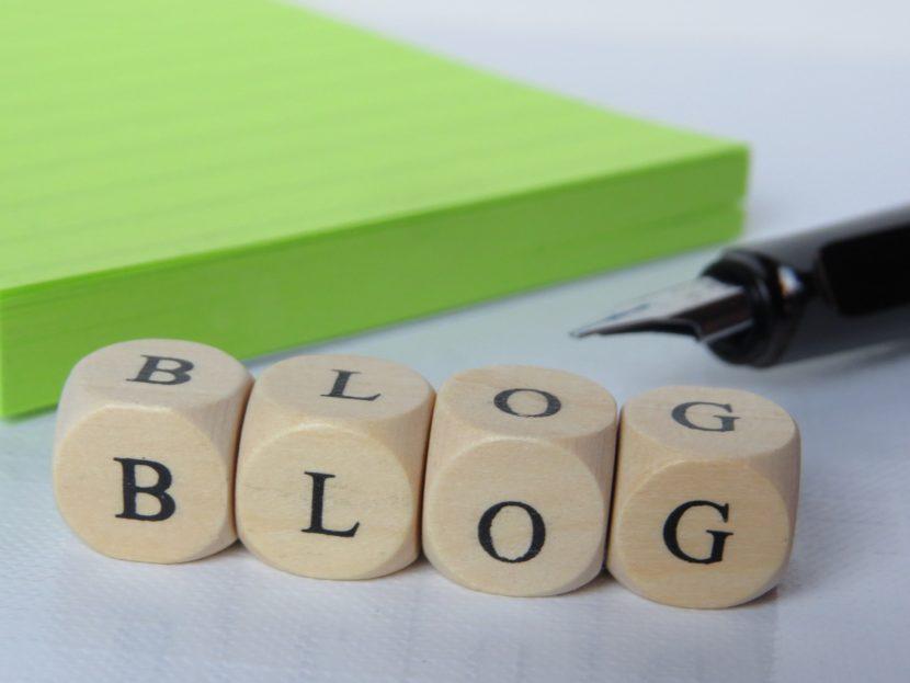 Blog spelt in blocks